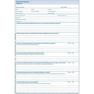 Patientenfragebogen 100.001 Vorderseite