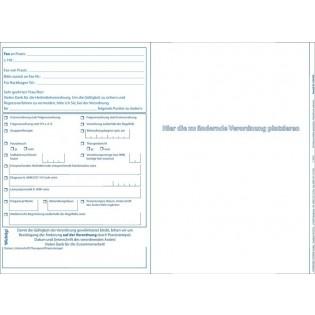 Faxvorlage Rezept-Änderung Physio-, Ergotherapie und Podologie
