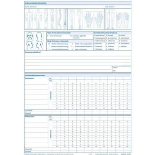 Einlegeblatt Schmerzdokumentation S.1