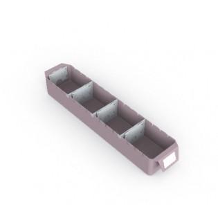 6 Schubladeneinsätze, Mod.V6-1M, inklusive Etikettenhalter und Teiler