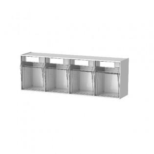 Spritzenbox 4-fach Gehäuse mit 4 transparenten Behältern