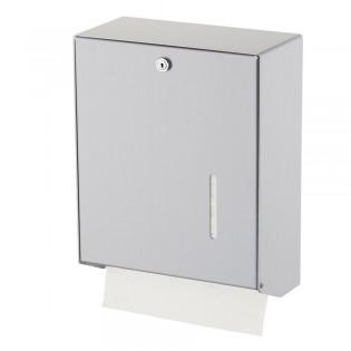 Papierhandtuchspender für 600 Tücher, Aluminium eloxiert