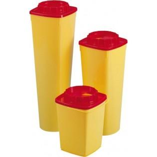 CS20 Quadratischer Nadelcontainer mit rundem Deckel, 2 l