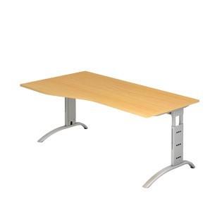Schreibtisch F-Serie 180x100 mit Abstufung