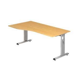 Schreibtisch O-Serie 180x100 li/re montierbar