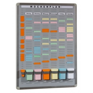 T-Card Systemtafel mit 35 Fächern / 6 Reihen
