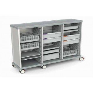 Schrankwagen, zur Vervollständigung mit Schubladen/ ISO-Modulen, 27 + 27 + 27 ISO Schienen
