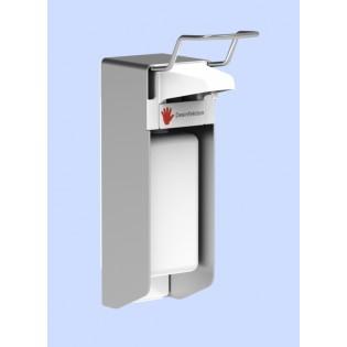 Desinfektionsmittelspender UNI-PRO mit Kunststoffpumpe für 500-ml-Flaschen mit kurzem Bedienungshebel, nicht abschließbar