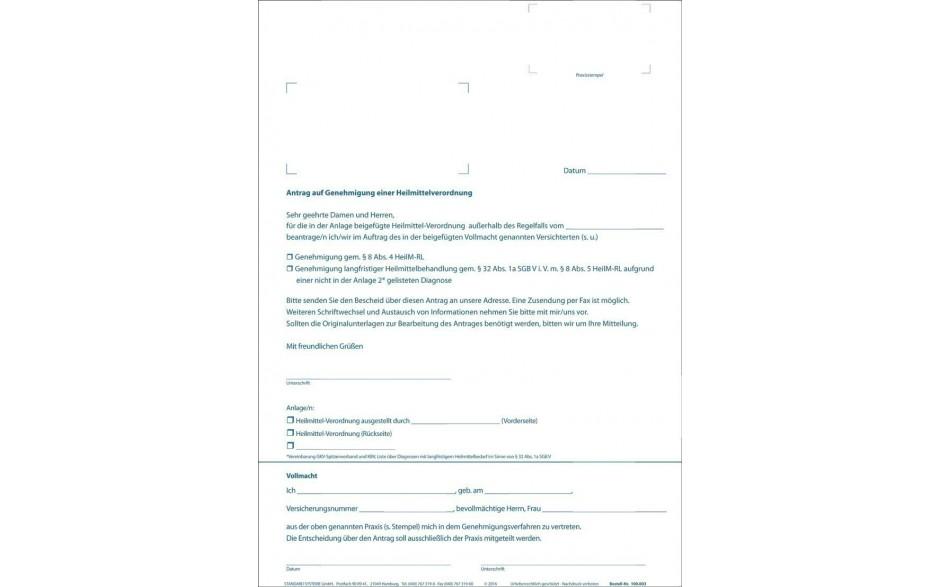 Antrag auf Genehmigung einer Verordnung 100.003