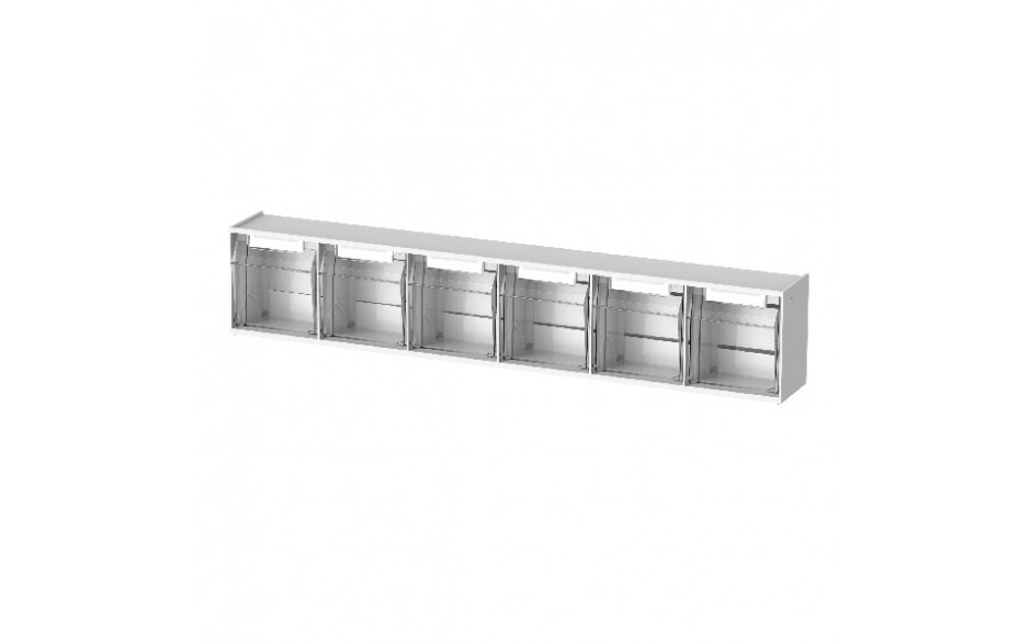 Spritzenbox 6-fach Gehäuse mit 6 transparenten Behältern