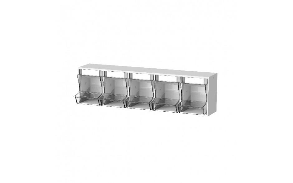 Spritzenbox 5-fach FIFO first in/first out Gehäuse mit 5 transparenten Behältern
