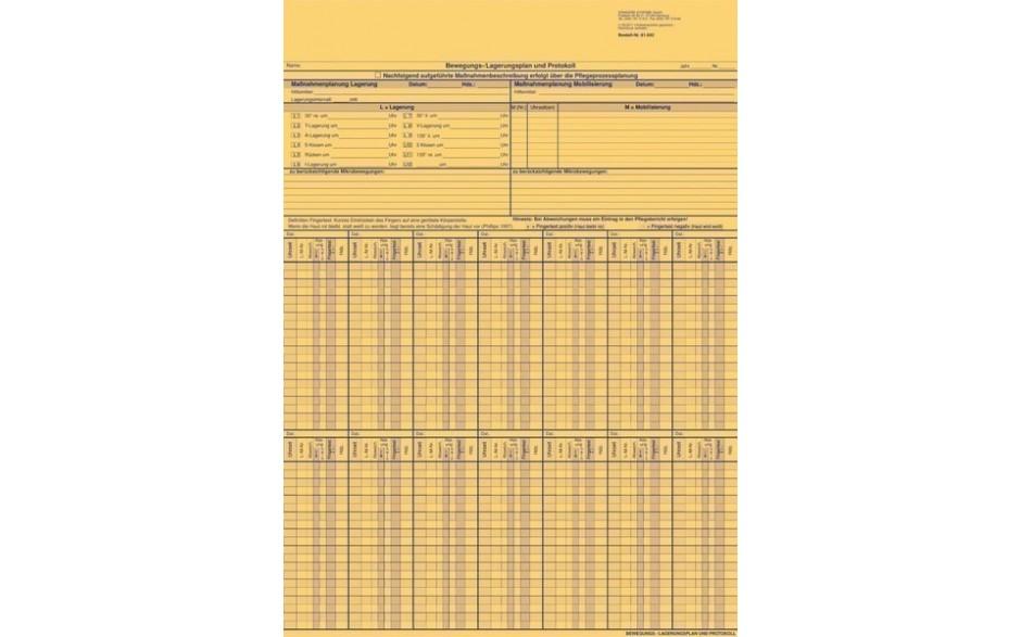 Bewegungs-/Lagerungsplan und Protokoll