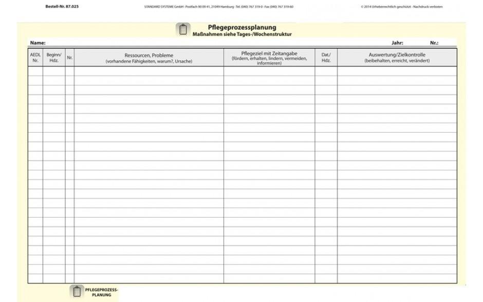 87.025 Pflegeprozessplanung Tages-/ Wochenstruktur