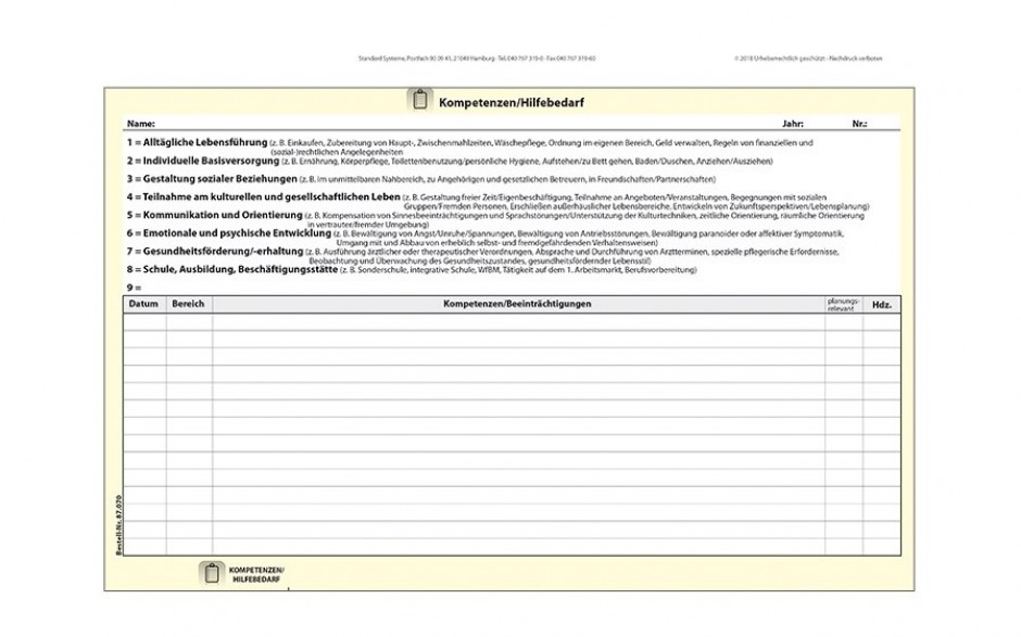 87.070 Komeptenzen/Hilfebedarf Seite 1