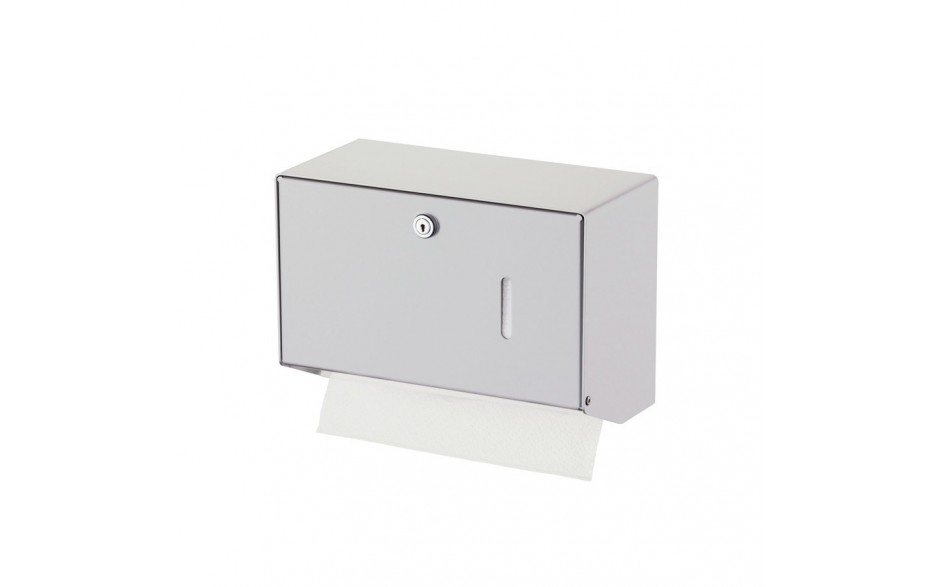 Papierhandtuchspender für 400 Tücher, Aluminium eloxiert