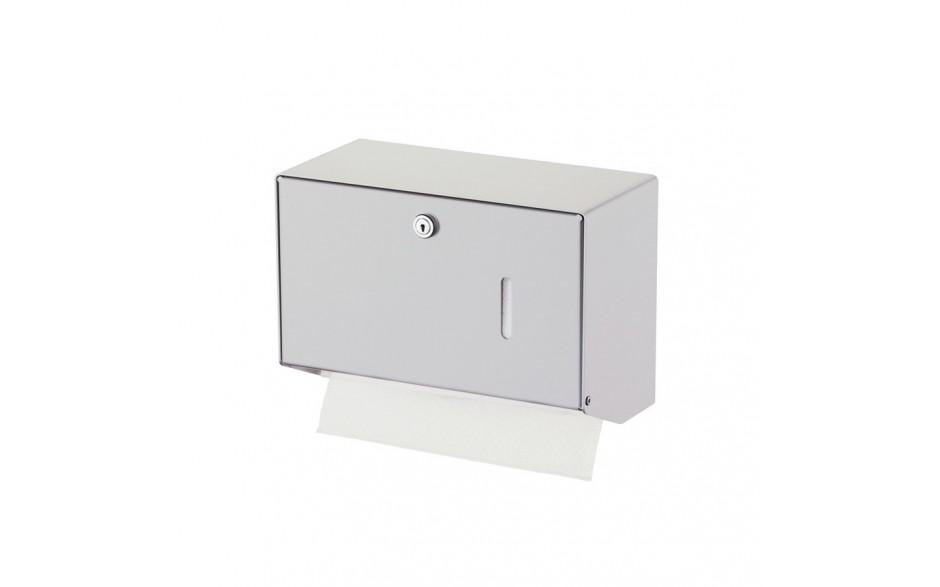 Papierhandtuchspender Edelstahl gebürstet (Farbbeispiel Modell 400 Tücher)