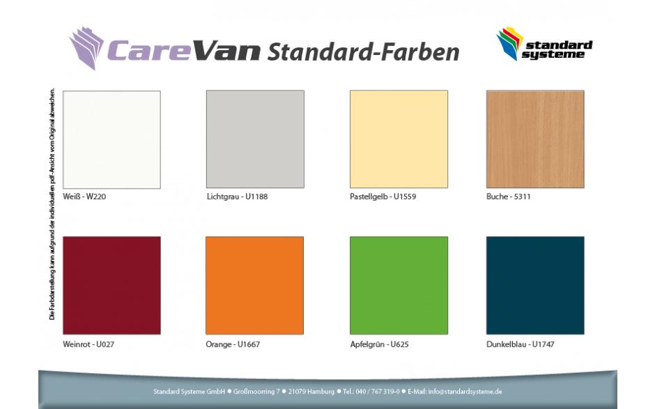 CareVan Standard-Farben