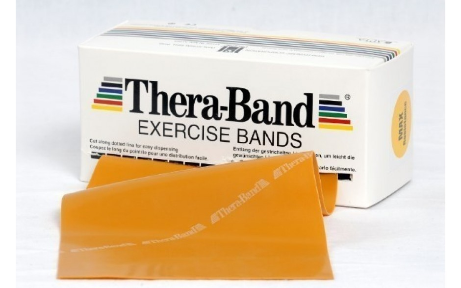 Thera-Band Übungsband, 5,5 m, maximalstark/gold