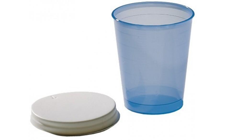 PBI Kunststoffbecher mit Deckel, für orale Medikamentenverabreichung
