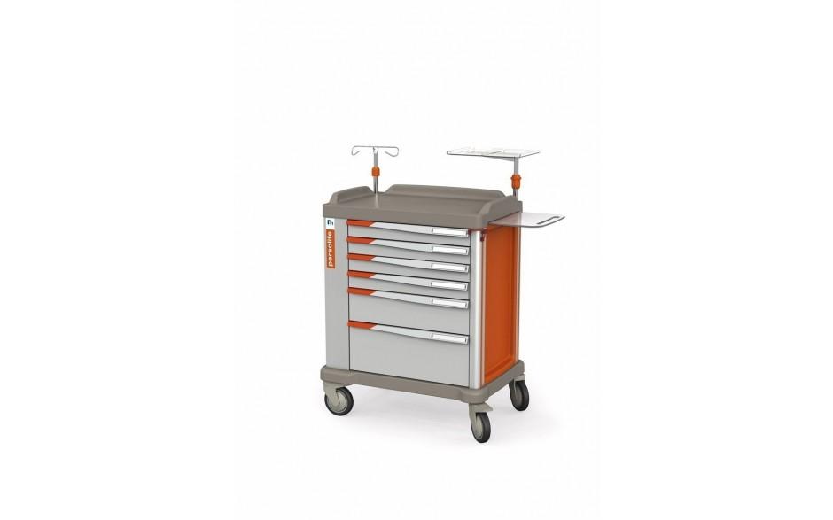 Persolife Compact Notfallwagen mit 6 Schubladen