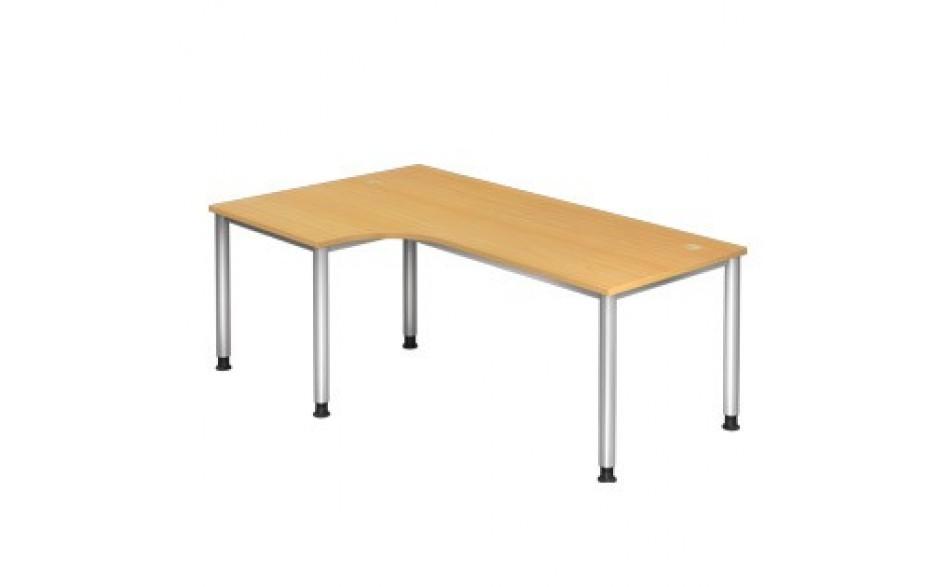 Schreibtisch H-Serie 200x120 li/re montierbar inkl. 2 Kabeldosen