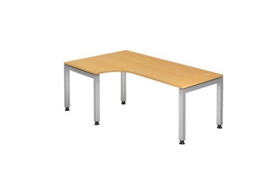 Schreibtisch J-Serie 200x120 li/re montierbar inkl. 2 Kabeldosen