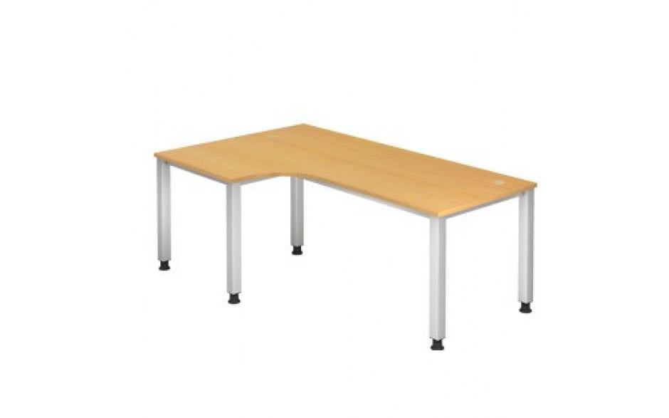 Schreibtisch Q-Serie 200x120 li/re montierbar inkl. 2 Kabeldosen
