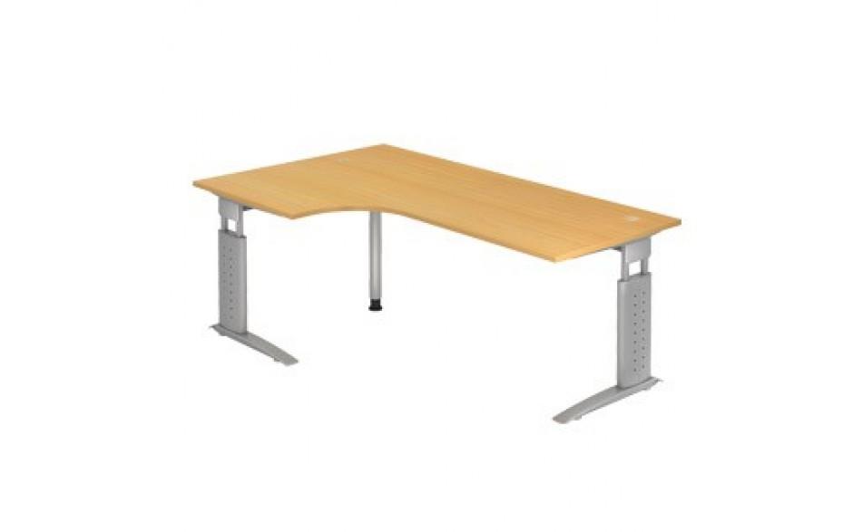 Schreibtisch U-Serie 200x120 li/re montierbar inkl. 2 Kabeldosen