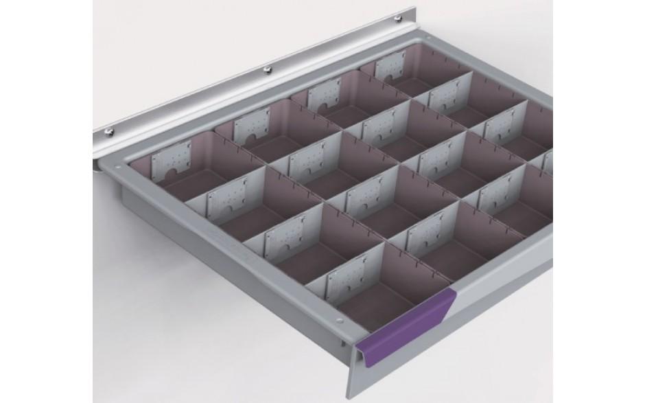 4 Schubladeneinsätze, Mod.V4-1M, inklusive Etikettenhalter und Teiler