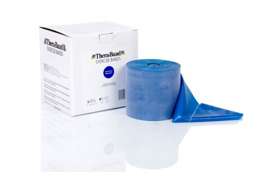 Thera-Band Übungsband, 45,5 m, extrastark/blau