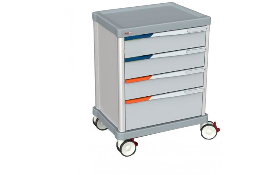 Schrankwagen, Front mit Schubladen, 27 ISO Schienen