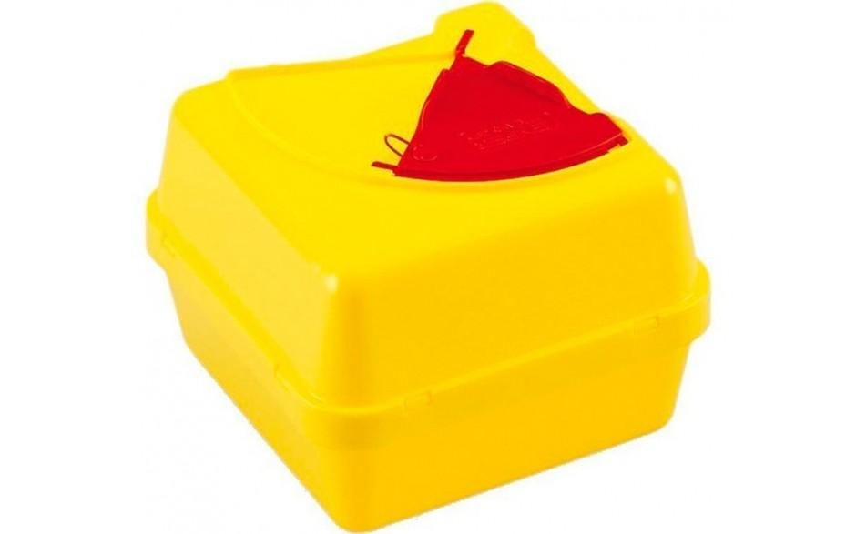 Abwurfbehälter bzw. Nadelcontainer mit Doppeldeckel, 30 l, quadratisch