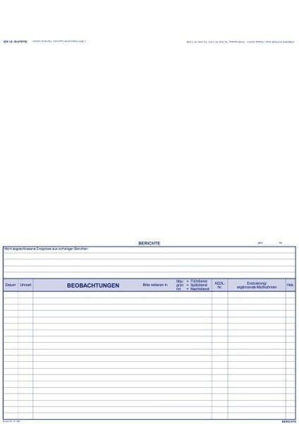 Berichte mit Evaluation