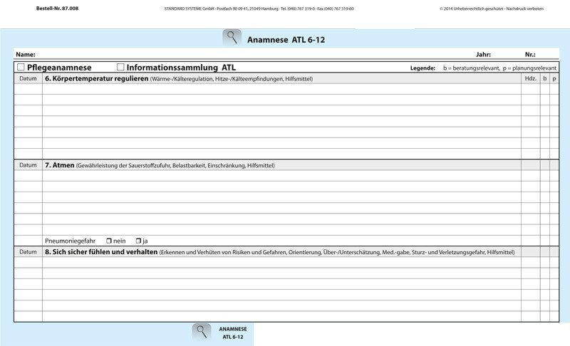 87.008 Anamnese ATL