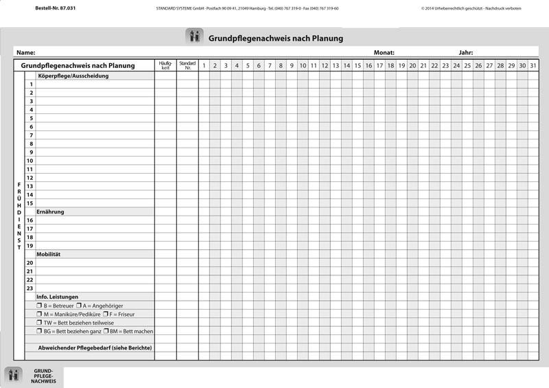 87.031 Grundpflegenachweis nach Planung