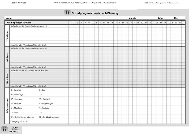 87.032 Grundpflegenachweis nach Planung TS