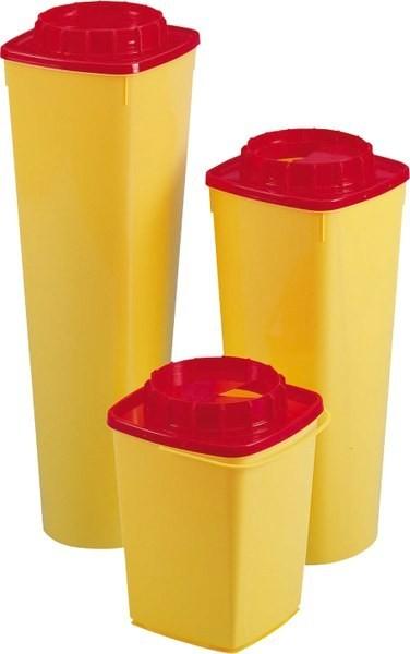 CS60 Quadratischer Nadelcontainer mit rundem Boden und rundem Deckel, 6 l
