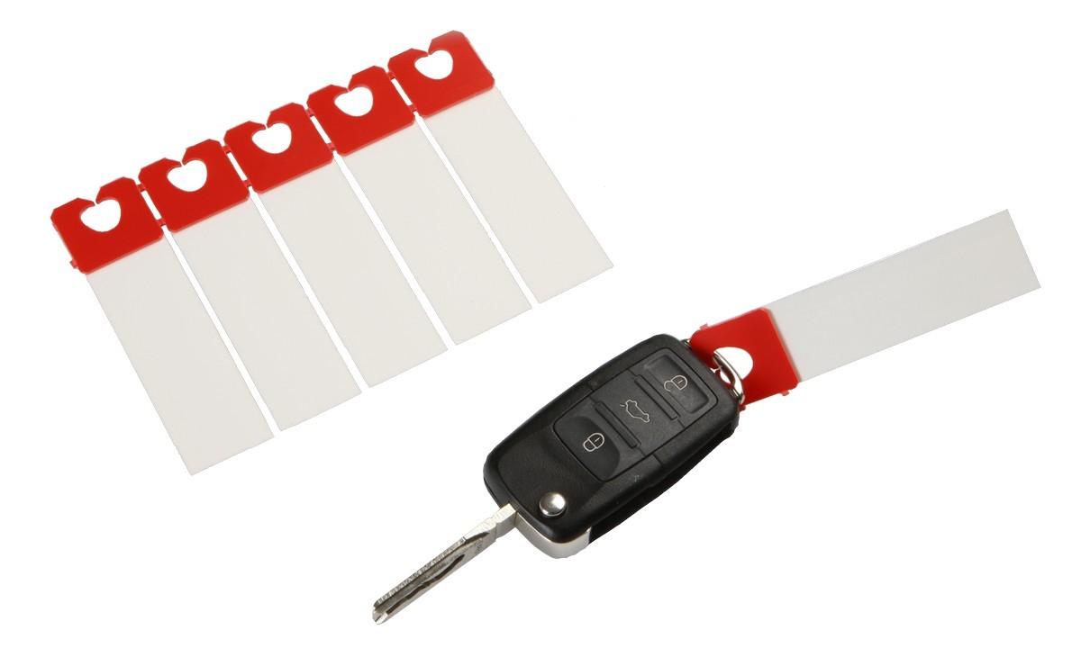 Schlüsselanhänger ''Clip'' unbedruckt, beidseitig beschriftbar