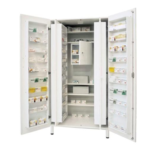 Medikations- und Medikamentenschränke mit 60 einstellbaren Innenfächern und abschließbarem BTM-Fach