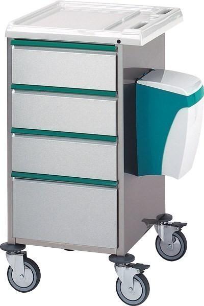 PC3 Therapiewagen aus Edelstahl, Leichtbauweise