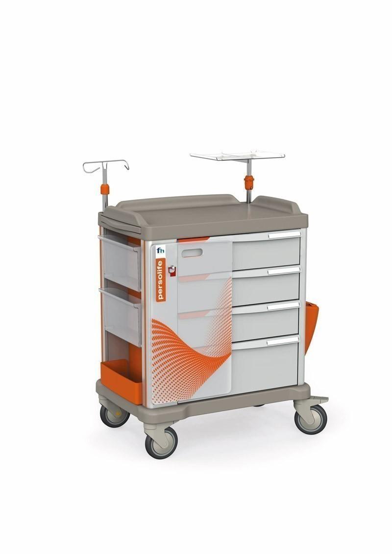 Persolife 600 Notfallwagen mit 4 Schubladen