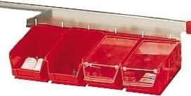 SET aus 2 Fächern aus Kunstoff mit transperentem Deckel
