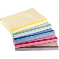 SAC 1 Wäschesäcke (Rot, Gelb, Braun) mit farbigen Streifen