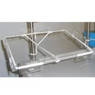 Halterung für Laptop aus Pulverbeschichtetem Stahl und Plexiglashalterung