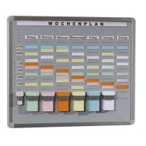 T-Card Systemtafel mit 20 Fächern / 7 Reihen