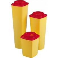 CS50 Quadratischer Nadelcontainer mit rundem Boden und rundem Deckel, 5 l