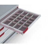 Perlgraue Schublade aus PC-ABS