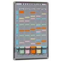 T-Card Systemtafel mit 35 Fächern / 5 Reihen