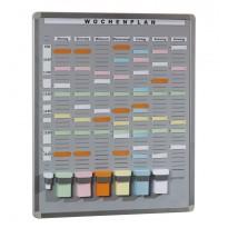 T-Card Systemtafel mit 35 Fächern / 7 Reihen