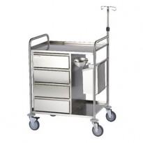 UC75524C Behandlungs- und Medikamentenwagen aus Edelstahl